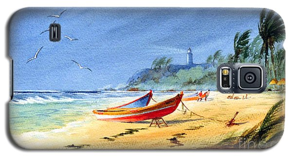 Saving The Fishing Boats - Maunabo Beach Puerto Rico Galaxy S5 Case