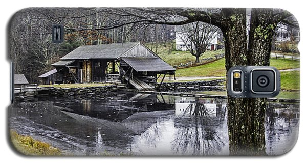 Galaxy S5 Case featuring the photograph Sawmill In Late Fall by Betty Denise