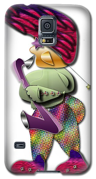 Galaxy S5 Case featuring the digital art Sax Man by Marvin Blaine