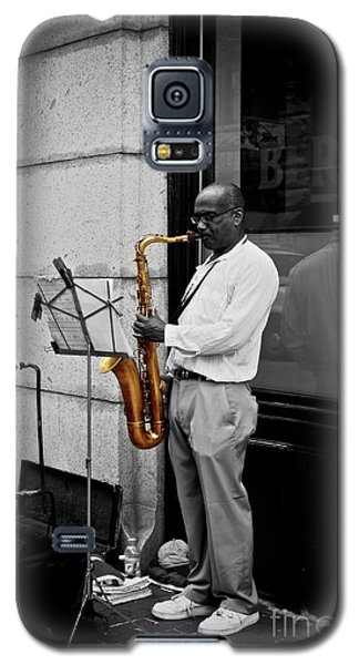 Galaxy S5 Case featuring the photograph Sax Player  by Sarah Mullin