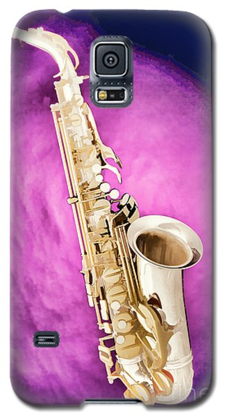 Saxophone Jazz Instrument Bell Painting In Color 3272.02 Galaxy S5 Case