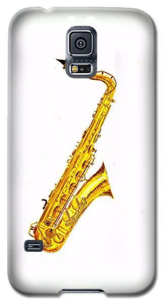 Saxophone Galaxy S5 Case by Michael Vigliotti