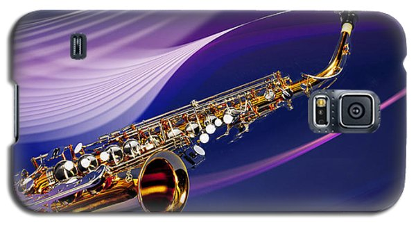 Saxophone Music In Space In Color 3251.02 Galaxy S5 Case