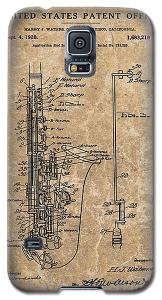 Saxophone Patent Design Illustration Galaxy S5 Case by Dan Sproul