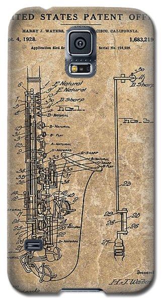Saxophone Patent Design Illustration Galaxy S5 Case