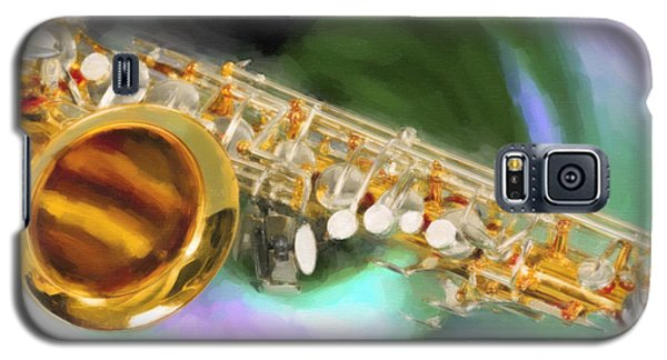Saxophone Swirl Music Painting In Color 3249.02 Galaxy S5 Case