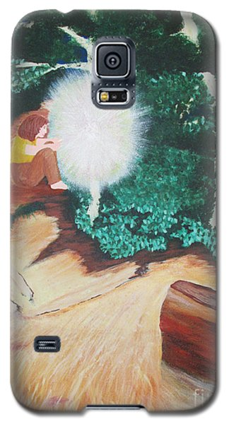 Galaxy S5 Case featuring the painting Saying Hello by Cheryl Bailey
