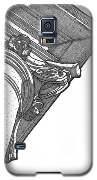 Galaxy S5 Case featuring the drawing Scamozzi Column Capital by Calvin Durham
