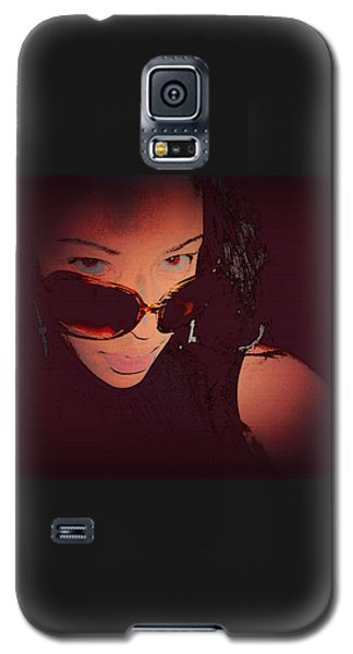 Scanned - Ai P. Nilson - Digital Art - Self Portrait Galaxy S5 Case