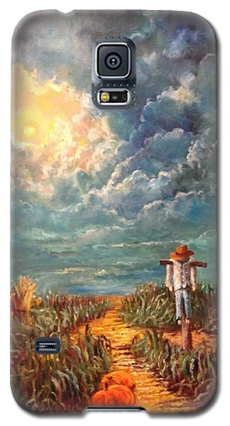 Scarecrow Moon Pumpkins And Mystery Galaxy S5 Case