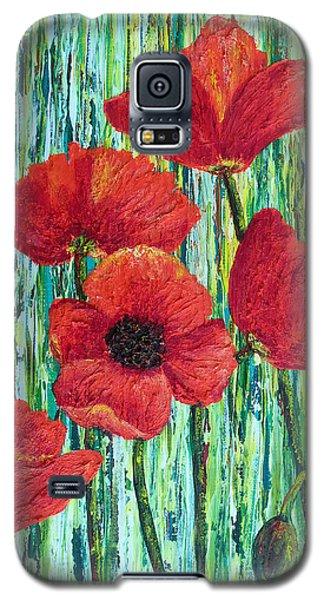 Scarlet Blooms Galaxy S5 Case by Susan DeLain