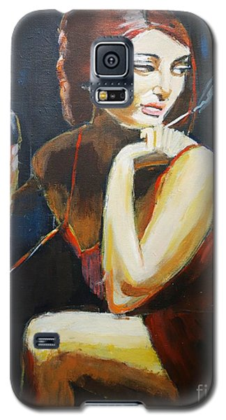 Galaxy S5 Case featuring the painting Scarlet by Judy Kay
