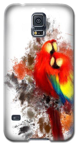Scarlet Macaw Galaxy S5 Case by Lourry Legarde
