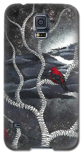 Galaxy S5 Case featuring the painting Scarlet Night by Oddball Art Co by Lizzy Love