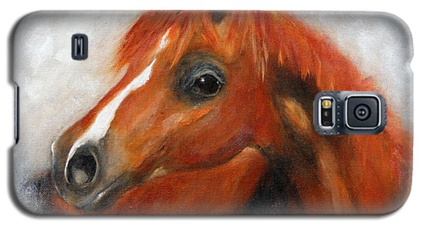 Galaxy S5 Case featuring the painting Scarlett by Barbie Batson