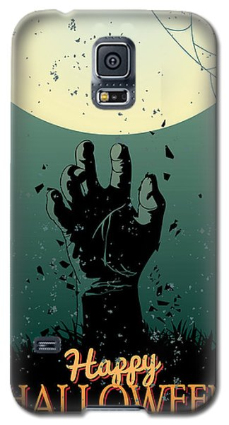 Galaxy S5 Case featuring the painting Scary Halloween by Gianfranco Weiss