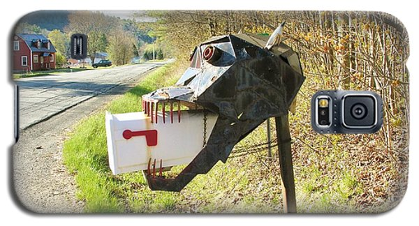 Galaxy S5 Case featuring the photograph Scary Mailbox by Sherman Perry