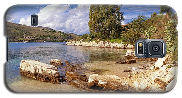 Scenic Kassiopi On Corfu Horizontal Galaxy S5 Case by Paul Cowan