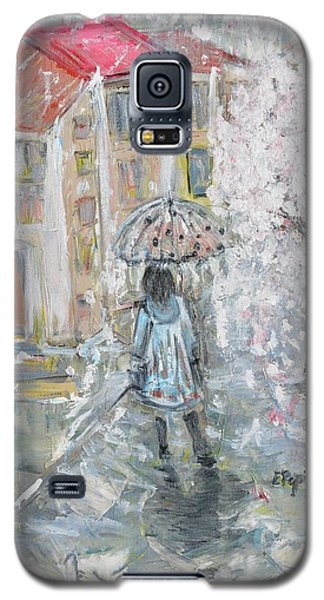 Galaxy S5 Case featuring the painting Scent Of Spring by Evelina Popilian