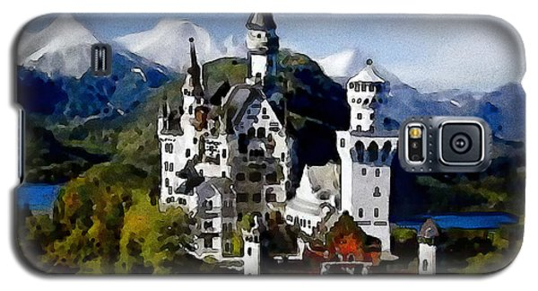 Galaxy S5 Case featuring the painting Schengen Castle by Jann Paxton