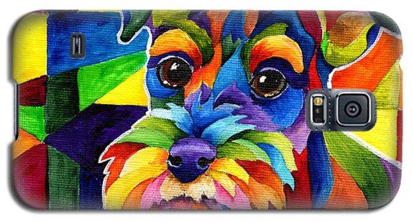 Schnauzer Galaxy S5 Case by Sherry Shipley