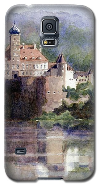 Galaxy S5 Case featuring the painting Schonbuhel Castle In Austria by Janet King