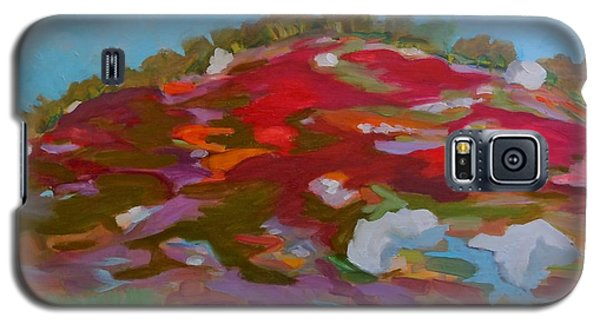 Galaxy S5 Case featuring the painting Schoodic Trail Blueberry Hill by Francine Frank