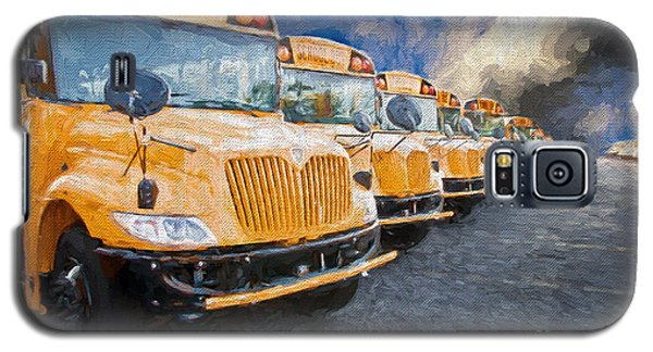 School Bus Lot Painterly Galaxy S5 Case