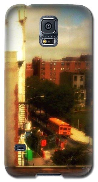 Galaxy S5 Case featuring the photograph School Bus - New York City Street Scene by Miriam Danar