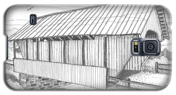 School House Covered Bridge Galaxy S5 Case
