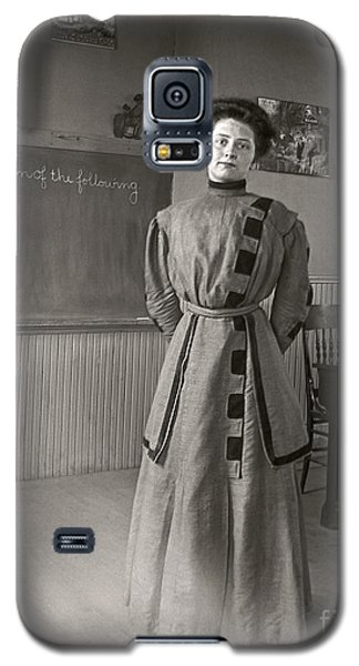 Galaxy S5 Case featuring the photograph School Teacher 1890 by Martin Konopacki Restoration