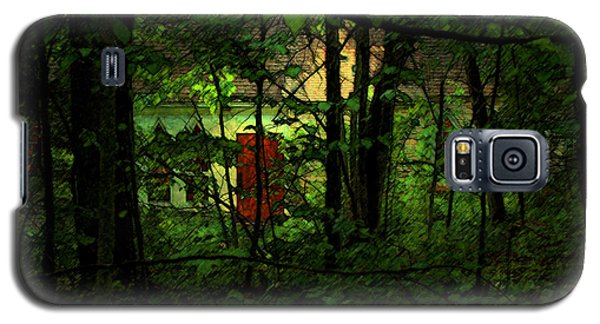 Galaxy S5 Case featuring the digital art Schoolhouse At The Clearing - Ellison Bay - Door County - Wisconsin by David Blank