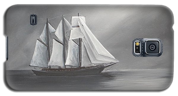 Galaxy S5 Case featuring the painting Schooner Moon by Virginia Coyle
