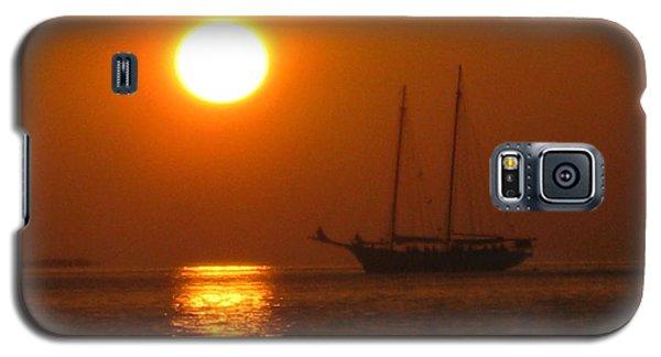 Schooner Sunset Galaxy S5 Case