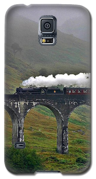 Scotland Steam Train And Bridge Galaxy S5 Case by Henry Kowalski