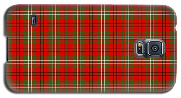 Galaxy S5 Case featuring the digital art Scott Red Tartan Variant by Gregory Scott