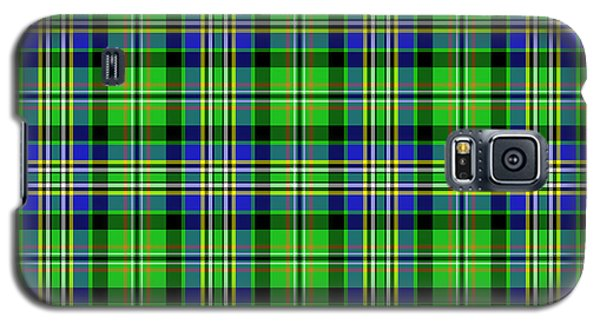 Galaxy S5 Case featuring the mixed media Scott Tartan Variant by Gregory Scott