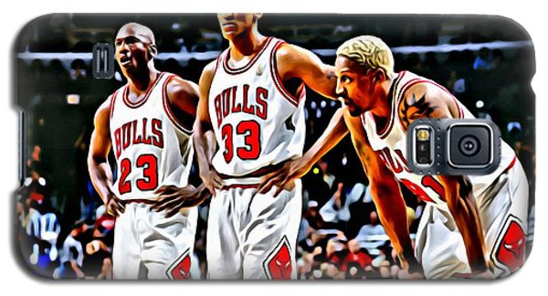 Scottie Pippen With Michael Jordan And Dennis Rodman Galaxy S5 Case