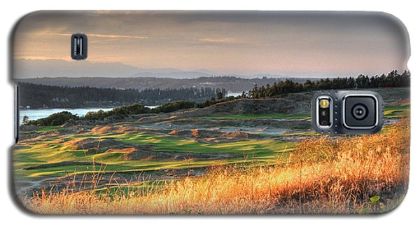 Galaxy S5 Case featuring the photograph Scottish Style Links In September - Chambers Bay Golf Course by Chris Anderson