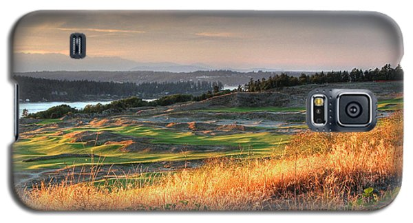 Scottish Style Links In September - Chambers Bay Golf Course Galaxy S5 Case by Chris Anderson