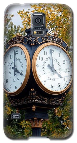 Galaxy S5 Case featuring the photograph Scranton Landmark Street Clock by Janine Riley