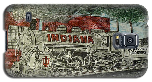 Scrapping Hoosiers Indiana Monon Train Galaxy S5 Case by Kathy Marrs Chandler