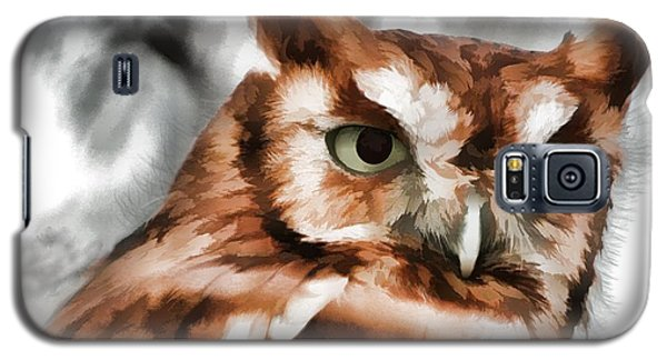 Galaxy S5 Case featuring the photograph Screech Owl Photo Art by Constantine Gregory