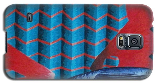Galaxy S5 Case featuring the painting Screwy World by Thomasina Durkay