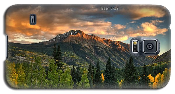 Scripture And Picture Isaiah 55 12 Galaxy S5 Case