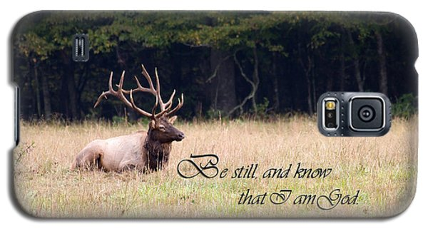 Scripture Photo With Elk Sitting Galaxy S5 Case