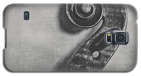 Violin Galaxy S5 Case - Scroll In Black And White by Emily Kay