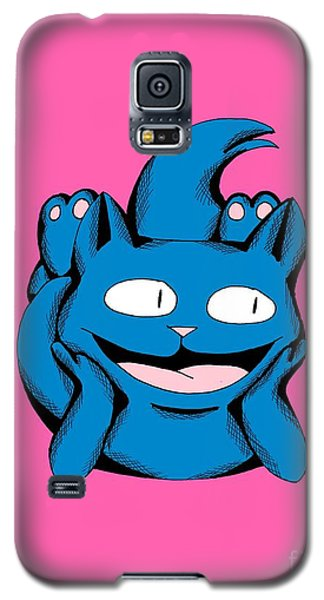 Galaxy S5 Case featuring the drawing Scuba Smiling In Toy Colors by Pet Serrano