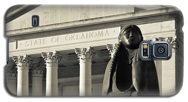 Sculpture Of Native American Galaxy S5 Case by Panoramic Images