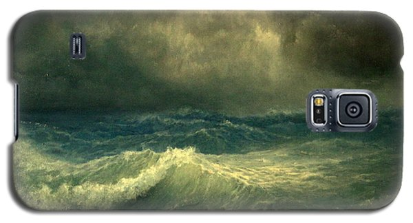 Galaxy S5 Case featuring the painting Sea And Sky by Mikhail Savchenko